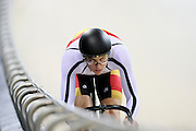 Southland's Jeremy Presbury competes in the (ME) sprint in the Avanti BikeNZ Classic, Avantidrome, Cambridge, New Zealand, Thursday, September 18, 2014, Credit: Dianne Manson/BikeNZ