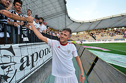 Aleksandar Boskovic of NS Mura with fans after football match between NK Maribor and NS Mura in 2nd Round of Prva liga Telekom Slovenije 2018/19, on July 29, 2018 in Ljudski vrt, Maribor, Slovenia. Photo by Mario Horvat / Sportida