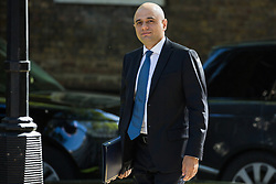 London, UK. 14 May, 2019. Sajid Javid MP, Secretary of State for the Home Department, arrives at 10 Downing Street for a Cabinet meeting.