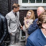 NLD/Amsterdam/20150602 - Talkies Terras award 2016, zwangere Victoria Koblenko en partner