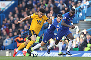 Wolverhampton Wanderers midfielder Morgan Gibbs-White (17) during the Premier League match between Chelsea and Wolverhampton Wanderers at Stamford Bridge, London, England on 10 March 2019.