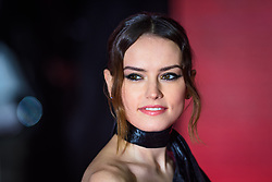 Daisy Ridley attending the european premiere of Star Wars: The Last Jedi held at The Royal Albert Hall, London. Picture date: Tuesday December 12, 2017. See PA story SHOWBIZ StarWars. Photo credit should read: Matt Crossick/PA Wire