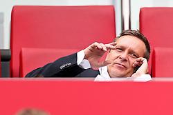 14.05.2010,  Rhein Energie Stadion, Koeln, GER, 1.FBL, FC Koeln vs Schalke 04, 34. Spieltag, im Bild: Horst Heldt (Manager Schalke 04) telefoniert   EXPA Pictures © 2011, PhotoCredit: EXPA/ nph/  Mueller       ****** out of GER / SWE / CRO  / BEL ******