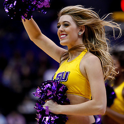 November 30, 2010; Baton Rouge, LA, USA; LSU Tigers girls dancers perform during the second half of a game against the Houston Cougars at the Pete Maravich Assembly Center. LSU defeated Houston 73-57. Mandatory Credit: Derick E. Hingle