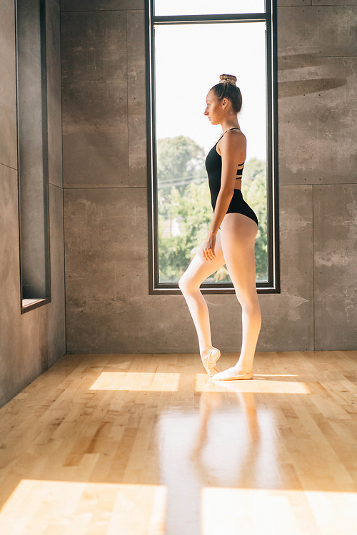 Dancer focuses