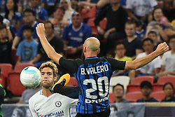 2017?7?29?.??????——????????????????..7?29?????????Borja Valero????????????Marcos Alonso????????.???? ??????..Inter Milan's player Borja Valero (R) competes with Chelsea's player Marcos Alonso (L) during the International Champions Cup match between Inter Milan and Chelsea held in Singapore's National Stadium on Jul 29, 2017..By Xinhua, Then Chih Wey..????????????2017?7?29? (Credit Image: © Then Chih Wey/Xinhua via ZUMA Wire)