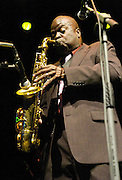 Maceo Parker is an American funk and soul jazz saxophonist, best known for his work with James Brown in the 1960s, as well as Parliament-Funkadelic in the 1970s. Parker was a prominent soloist on many of Brown's hit recordings, and a key part of his band, playing alto, tenor and baritone saxophones. He is now just as well known for his own shows, as he has toured continuously under his own name since the early 1990s and has built up a strong fan base.<br /> <br /> Playing live in London 22nd October 2007