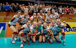 04-04-2017 NED:  CEV U18 Europees Kampioenschap vrouwen dag 3, Arnhem<br /> Duitsland - Nederland 3-1 / Nederland verliest kansloos van Duitsland met 3-1 - Team Duitsland