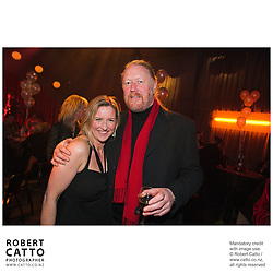 Delia Shanly;Vincent Burke at the Film Wellington 10th Anniversary Celebration at the Front Room, Wellington, New Zealand.<br />