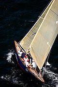 Flapper, 6 Meter Class, racing in the Museum of Yachting Classic Yacht Regatta.