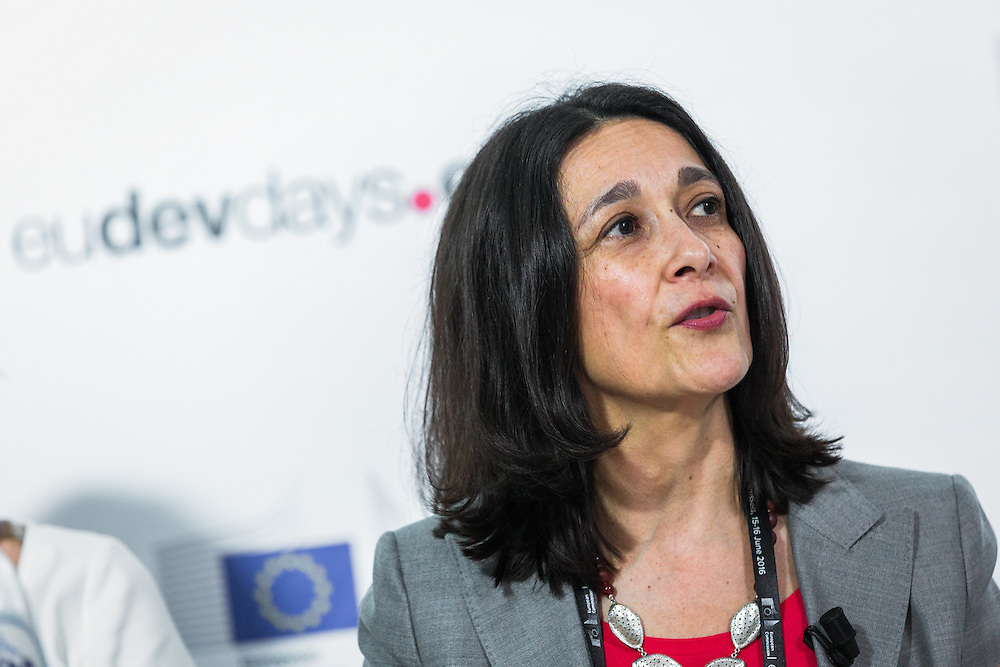 20160615 - Brussels , Belgium - 2016 June 15th - European Development Days - Gender , climate change and integrated risk reduction - Martha Rojas-Urrego , Head of Global Advocacy , CARE International - Moderator © European Union