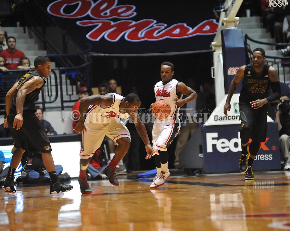 "Ole Miss' Murphy Holloway (31) vs. Missouri at the C.M. ""Tad"" Smith Coliseum on Saturday, January 12, 2013. Ole Miss defeated #10 ranked Missouri 64-49."
