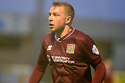 Northampton Town Midfielder Nicky Adams watches the ball during the Sky Bet League 2 match between Northampton Town and York City at Sixfields Stadium, Northampton, England on 6 February 2016. Photo by Dennis Goodwin.