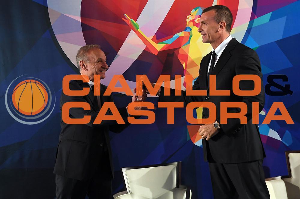 giovanni gianni petrucci, livio proli<br /> Presentazione Campionato Serie A Poste Mobile 2017/18<br /> Lega Basket Serie A 2017/2018<br /> Castel San Pietro Terme, 25/09/2017<br /> Foto M.Ceretti / Ciamillo - Castoria