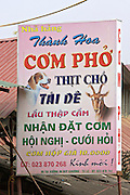 Pho restaurant serving dog and goat meet.