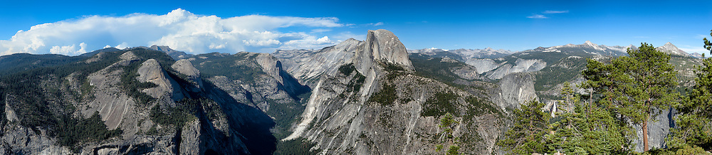 Half Dome. Yosemite National Park. Panorama.