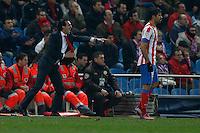 31.01.2013 SPAIN - Copa del Rey 12/13 Matchday 1/4  match played between Atletico de Madrid vs Sevilla Futbol Club (2-1) at Vicente Calderon stadium. The picture show Unai Emery Etxegoien (Coach of Sevilla F.C.)