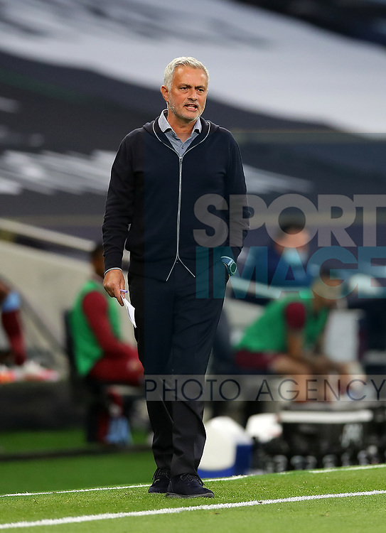 Tottenham's Jose Mourinho during the Premier League match at the Tottenham Hotspur Stadium, London. Picture date: 23rd June 2020. Picture credit should read: David Klein/Sportimage