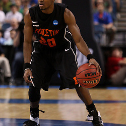 Mar 17, 2011; Tampa, FL, USA; Princeton Tigers guard Douglas Davis (20) during second half of the second round of the 2011 NCAA men's basketball tournament against the Kentucky Wildcats at the St. Pete Times Forum. Kentucky defeated Princeton 59-57.  Mandatory Credit: Derick E. Hingle