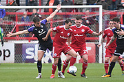Accrington Stanley's Sean McConville(11) ana Accrington Stanley's Billy Kee(29) during the EFL Sky Bet League 2 match between Accrington Stanley and Luton Town at the Fraser Eagle Stadium, Accrington, England on 7 October 2017. Photo by Mark Pollitt.