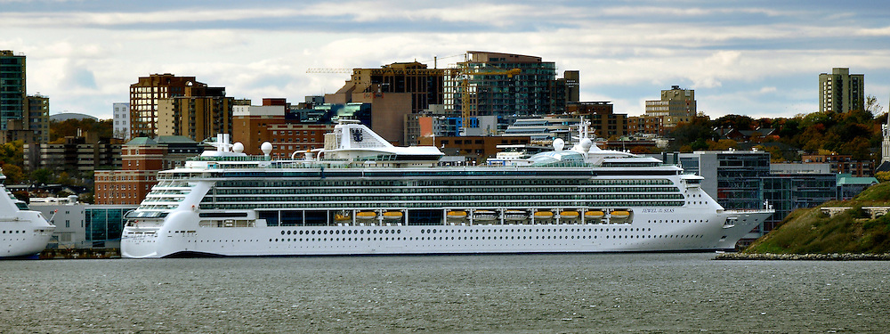 Royal Caribbean Cruise Lines' Jewel of the Seas docked at Halifax, Nova Scotia in on a cloudy Autumn day. This image was published on the Shipparade Website on 26 October 2012. See http://www.shipparade.com/az/Jewel_of_the_Seas/Jewel_of_the_Seas_2012-10-23.jpg