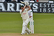 Riki Wessels hits a six during the Specsavers County Champ Div 2 match between Nottinghamshire County Cricket Club and Sussex County Cricket Club at Trent Bridge, West Bridgford, United Kingdon on 21 April 2017. Photo by Simon Trafford.