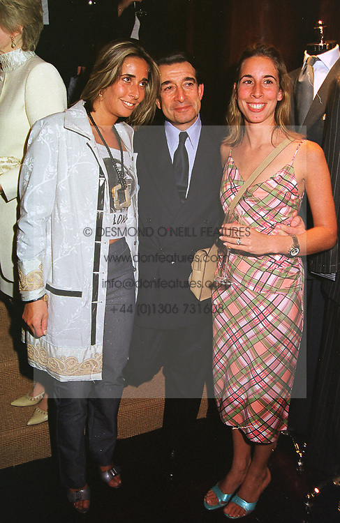 Left to right, MISS TARA BERNERD, her father MR ELLIOTT BERNERD the multi millionaire property developer and his daughter MRS JONATHAN SIEFF, at a party in London on 5th May 1999.MRR 85