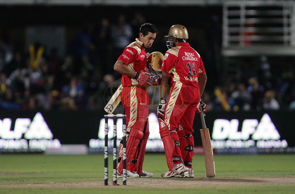 PORT ELIZABETH, SOUTH AFRICA - 20 April 2009. Ross Taylor and Robin Uthappa during the  IPL Season 2 match between the Chennai Superkings and the  Royal Challengers Bangalore held at St Georges Park in Port Elizabeth , South Africa..