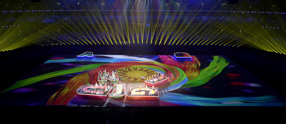 28.08.2014. Nanjing, China.  Artists perform during the closing ceremony of the Nanjing 2014 Youth Olympic Games in Nanjing, capital of east Chinas Jiangsu Province, Aug. 28, 2014.