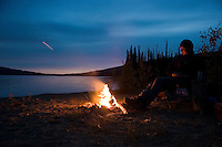 Sitting by the fire listening to the moose call in September.