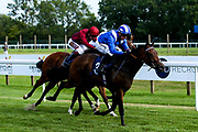 Aryaaf ridden by Jim Crowley trained by Simon Crisford wins the Nursery Handicap - Mandatory by-line: Robbie Stephenson/JMP - 27/08/2019 - PR - Bath Racecourse - Bath, England - Race Meeting at Bath Racecourse