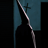 A penitent parades during the Maundy Thursday procession on April 17, 2014 in the northern Spanish Basque village of Segura.  PHOTO/ RAFA RIVAS
