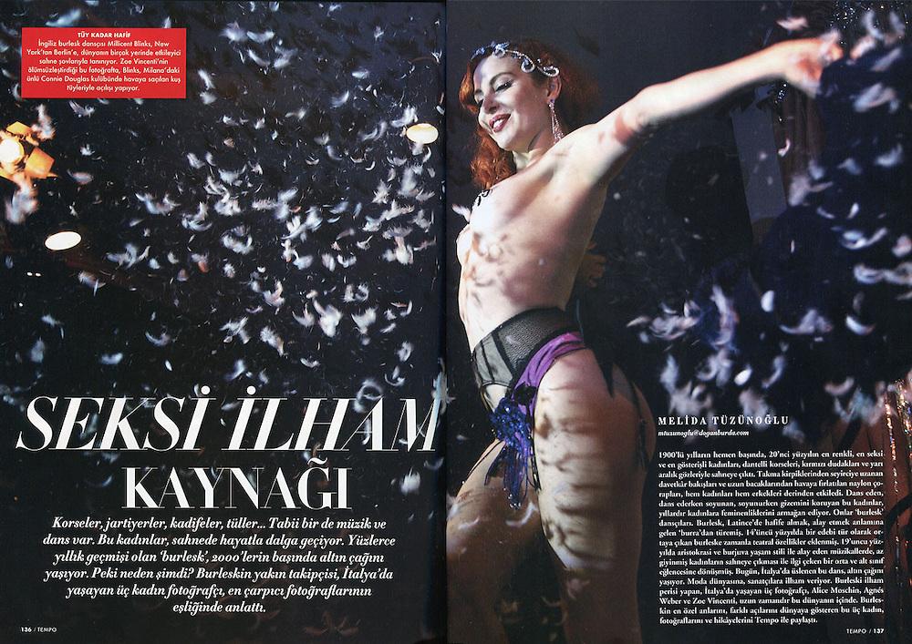"Tempo magazine © Zoe Vincenti, ""Burlesque Voodoo"" 2010"