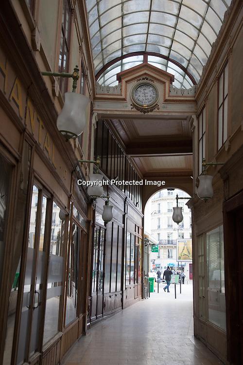 France, Paris. 2nd dsitrict.  Passage bourg l abbe Historical Covered passages of Paris.