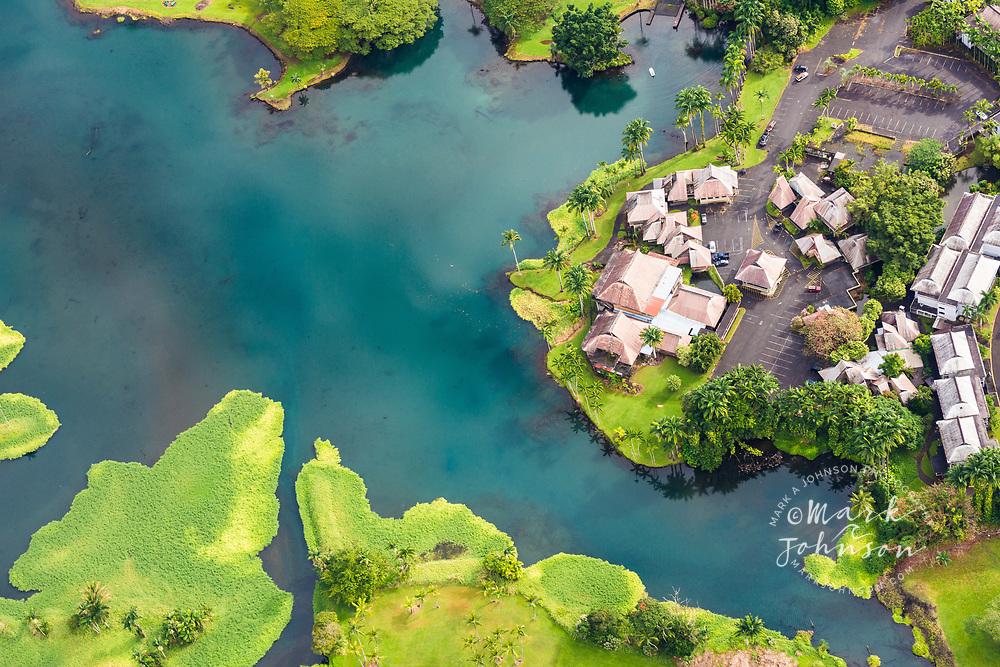 Aerial photo of Wailoa River State Park, Hilo, Big Island, Hawaii