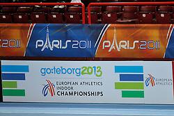 06-03-2011 ATHELETICS: EUROPEAN ATHLETICS INDOOR CHAMPIONSHIPS: PARIS<br /> Boarding EC 2013 Goteborg<br /> ©2011-WWW.FOTOHOOGENDOORN.NL