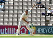 Rikki Clarke of Surrey bowling during the Specsavers County Champ Div 1 match between Hampshire County Cricket Club and Surrey County Cricket Club at the Ageas Bowl, Southampton, United Kingdom on 11 June 2018. Picture by Graham Hunt.