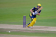 Jimmy Adams of Hampshire batting during the Royal London One Day Cup match between Hampshire County Cricket Club and Somerset County Cricket Club at the Ageas Bowl, Southampton, United Kingdom on 2 August 2016. Photo by David Vokes.