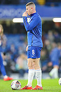 Chelsea midfielder Ross Barkley (8) warms up prior to the The FA Cup fourth round match between Chelsea and Sheffield Wednesday at Stamford Bridge, London, England on 27 January 2019.