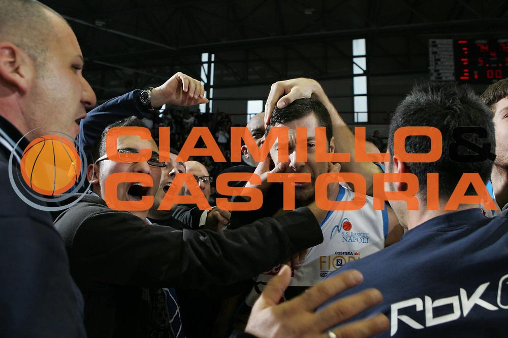 DESCRIZIONE : Napoli Lega A1 2007-08 Eldo Napoli Armani Jeans Milano <br /> GIOCATORE : Matteo Malaventura Tifosi<br /> SQUADRA : Eldo Napoli<br /> EVENTO : Campionato Lega A1 2007-2008<br /> GARA : Eldo Napoli Armani Jeans Milano<br /> DATA : 06/01/2008<br /> CATEGORIA : Esultanza<br /> SPORT : Pallacanestro <br /> AUTORE : Agenzia Ciamillo-Castoria/A.De Lise