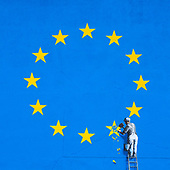 Brexit Graffiti By Banksy, Dover