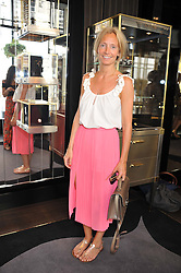 MARTHA WARD at a girl's lunch to celebrate the opening of Annoushka Ducas's new store Flagship Annoushka at 1 South Molton Street, London W1 on 26th July 2012.  Following drinks guests went for lunch at Claridge's, Brook Street, London.