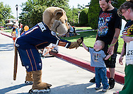 July 4, 2012: The Oklahoma City Barons of the American Hockey League participate in the Bethany Freedom Festival parade in Bethany, Oklahoma.  The parade is held to celebrate the fourth of July.