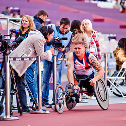 Visa London Disability Athletics Challenge at the Olympic Stadium in London on May 8, 2012. The event is part of the London Prepares series, official London 2012 olympic sports testing programme.