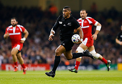 New Zealand Winger Waisake Naholo breaks going on to score the first try of the game - Mandatory byline: Rogan Thomson/JMP - 07966 386802 - 02/10/2015 - RUGBY UNION - Millennium Stadium - Cardiff, Wales - New Zealand v Georgia - Rugby World Cup 2015 Pool C.