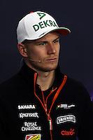 Nico Hulkenberg (GER) Sahara Force India F1 in the FIA Press Conference.<br /> Japanese Grand Prix, Thursday 2nd October 2014. Suzuka, Japan.