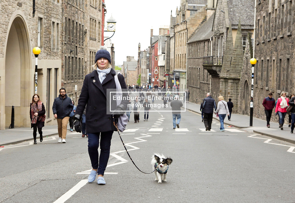 Canongate, Edinburgh was an oasis of calm for pedestrians and dog walkers during Open Streets day. Pic copyright Terry Murden @edinburghelitemedia
