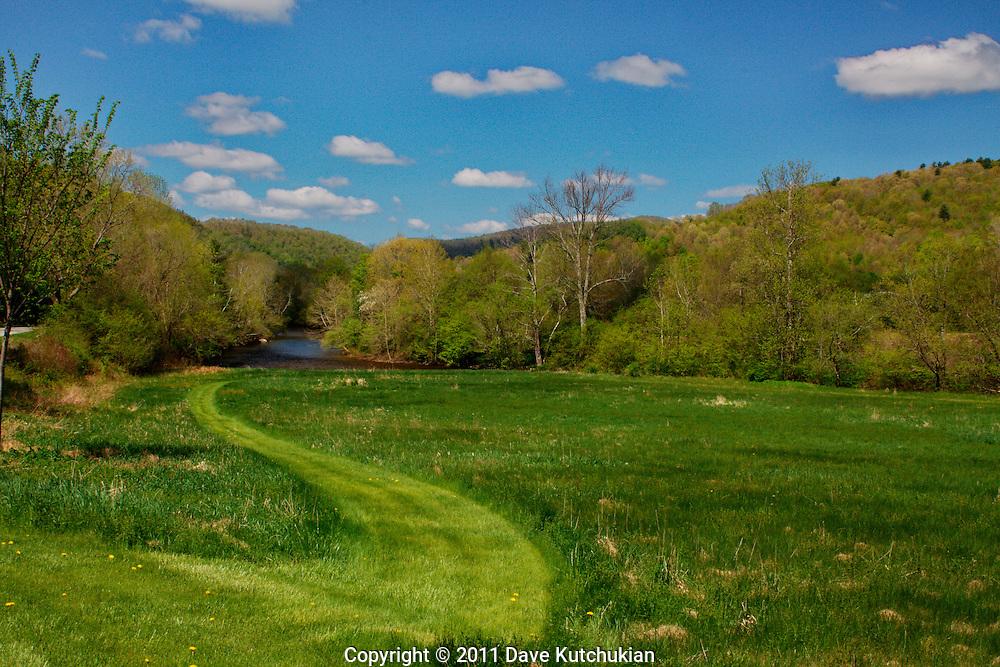 Spring in Arlington, VT on the Battenkill River