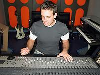Sound technician in recording studio portrait