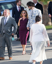 Danni Minogue. Ronan Keating wedding to Storm Uechtritz at Archerfield today.